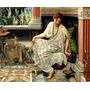 Linda Mulher Varanda Pássaro 1893 Pintor Poynter Tela Repro