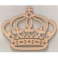 Kit Coroa Princesa Trabalhada 75cm E 4 Coroas 28cm Mdf -5 Pç