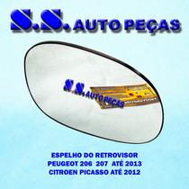 Espelho 206 Retrovisor Peugeot 206 Peça Original