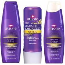 Kit Aussie Shine C/3 Shampoo+condicionador+mascara
