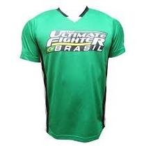 Camiseta Dry Fit Ufc Original Jiu Jitsu Mma Verde