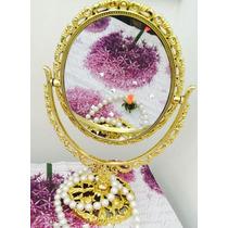 Espelho De Mesa Maquiagem Provençal Princesa Dupla Face