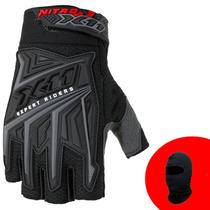 Luva Moto X11 Nitro 3 Motoqueiro Motociclista Meio Dedo