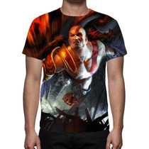 Camisa, Camiseta Game God Of War 3 - Estampa Total