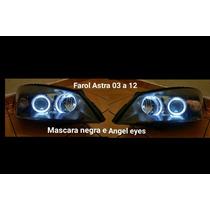 Par De Farol Astra 03 A 12 Com Angel Eyes E Mascara Negra