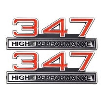 Emblema Ford V8 347 Mustang Maverick Galaxie Landau Friso Gt