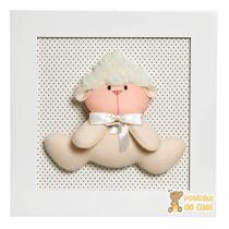 Quadrinho Decorado Quarto Bebê Infantil Ovelha Ovelhinha
