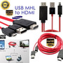 Cabo Mhl Hdmi X V8 Samsung Galaxy S3 S4 Note Hd Tv Micro Usb
