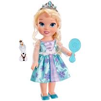 Boneca Luxo Elsa Ou Anna 15 Pol