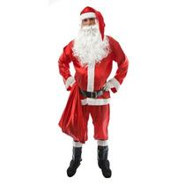 Fantasia Papai Noel,roupa Noel, Frete Gratis, Kit 9 Peças