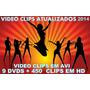 9 Dvds 450 Video Clips Em Avi Atualizado2014+frete Gratis-