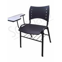 Cadeira Universitaria Plastica Cor Preta