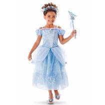 Vestido Fantasia Cinderela Infantil Tamanho 120