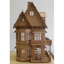 Casa Casinha Mdf P/ Bonecas Polly Monster High Barbie Pocket