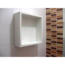 Nicho Com Fundo 30x30x10 Cm-100%mdf 15mm Branco- Decorativo