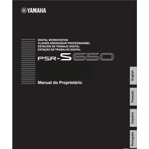 Manual Do Teclado Arranjador Yamaha Psr - S650