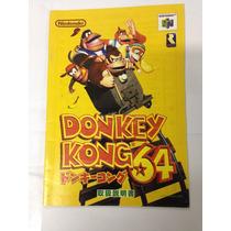 Manual Do Jogo De Nintendo 64 Donkey Kong 64