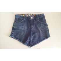 Short Saia De Bico Jeans Desfiado Curto Verão 2016