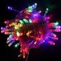 Pisca 100 Leds Coloridos - Cordão De Luzes Natalinas 9 Mts