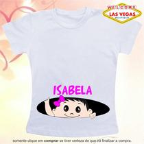 Camiseta Grávida Gestante Bebe Espiando Sorrindo Personalize