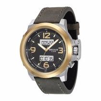Relógio Seculus Ana-digi 13007gpsvbc1 Pulseira Couro Larga
