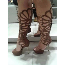 Sandália Gladiadora De Salto