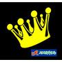 Adesivo Coroa King Carro Rebaixado Ar Fixa Rosca Low Car Dub