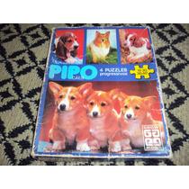 Brinquedo Antigo, Jogo Quebra Cabeça Pipo Cães Da Grow.