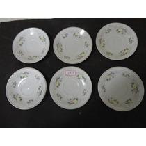 #11979 - 6 Pratinhos De Porcelana Chinesa Floral - Antigos!