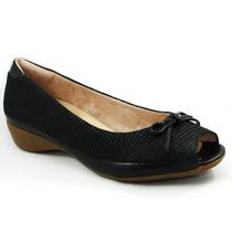 Peep Toe Malu Super Comfort Couro Rebeca 44012-23