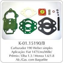 Kit Carburador Fiat 147/uno - Gm Monza Weber