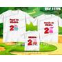 Kit Camisetas Personalizadas Aniversário Familia Pig Peppa