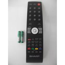 Controle Remoto Tv Sharp Lcd Lc42sv32b Original (026-0606)