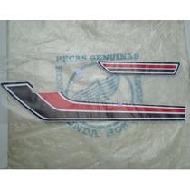 Adesivo, Jogo De Faixa Honda Cg Bolinha 1981 Vermelho Branco