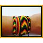 Kit C/4 Pulseiras Tornozeleiras Reggae Bob Frete Grátis!!!