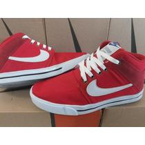 Nike Sb Cano Alto Vermelho Com Branco 100% Conforto