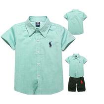 Camisa Infantil De Botão Não É Polo