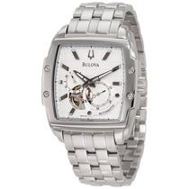 Relógio Bulova Automatico Dual Aperture 96a122 Quadrado
