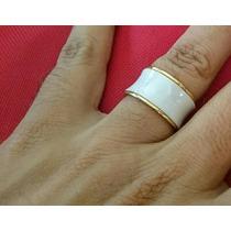 Anel Aliança Bvlgari B.zero Ouro/cerâmica Comprada Em Dubai.