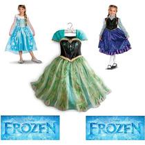 Fantasia-vestido Elsa Frozen - Pronta-entrega - Em Estoque