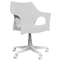 Cadeira Office Para Escritório Marfim De Rodízio Pé Giratóri