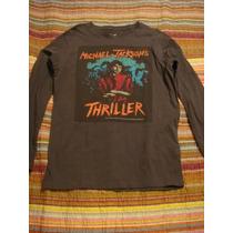 Michael Jackson Blusa Camiseta Thriller Manga Longa T.10