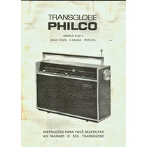 Manual Philco Ford Transglobe B 481 Calibragem E Concerto