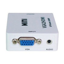 Vga Para Hdmi Cabo Adaptador Conversor Com Audio Tv Mini N.f