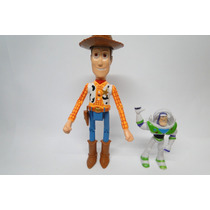 Boneco Toy Story Cowboy Wood + Buzz Lightyear- Disney