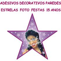 Adesivos Decorativos Pista Dança Parede 15 Anos Estrela Foto
