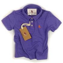 Camisa Polo/body Infantil Qualidade Importada Original Cor4