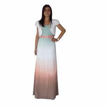 Moda Evangélica - Vestido Longo Tie Die - Zunna Ribeiro