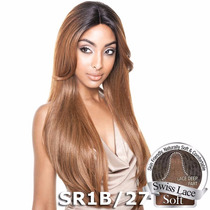 Peruca Front Lace Brown Sugar Human Hair Blend-bs216 Jachair