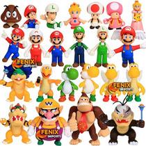 Boneco Mario Super Mario Yoshi Peach Luigi 49 Modelos